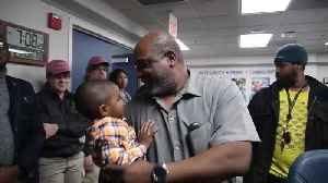 Watch this postal worker's emotional reunion with a 2-year-old he found alone on I-95 [Video]
