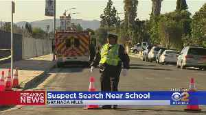 Standoff Forces Granada Hills School To Shelter In Place [Video]