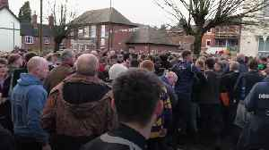 Hundreds do battle in Ashbourne's Shrovetide Football Match