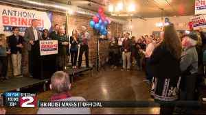 Brindisi announces re-election [Video]