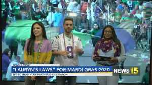 Lauryn's Laws For Mardi Gras [Video]
