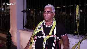 South Africa: Activist chains herself to Parliament's gates to protest gender-based violence [Video]