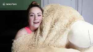 Family pranks son with giant teddy bear that hilariously 'comes to life' [Video]