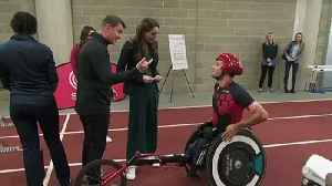 Duchess of Cambridge sprints and spars at SportsAid event [Video]
