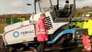 Duke of Cambridge visits Tarmac's new centre near Mansfield [Video]