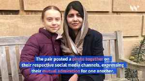 Greta Thunberg Finally Met Her 'Role Model,' Malala Yousafzai [Video]