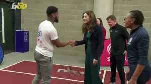 The Duchess of Cambridge Shows Off Her Sporty Side [Video]