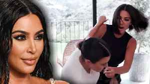 Kim Kardashian Fights Kourtney Kardashian In New Viral Video [Video]