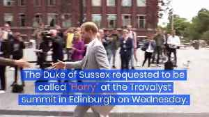Prince Harry Is Now Going by Just 'Harry' [Video]