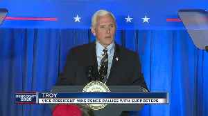 Vice President Mike Pence travels to Troy, Lansing [Video]
