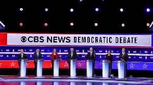 News video: Democratic Candidates Put Sanders On Defense In South Carolina Debate