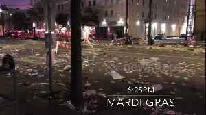Satisfying moment New Orleans goes from Mardi Gras mess to clean streets in less than 2 hours [Video]