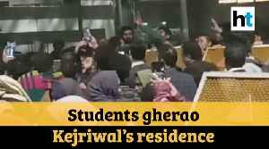 Delhi violence: Students protest outside CM Kejriwal's residence, detained [Video]