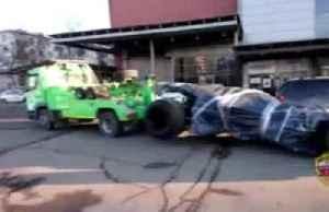 Moscow needs a new hero: police tow away Batmobile [Video]