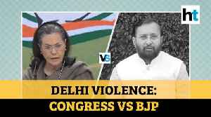 Delhi violence: Congress wants Amit Shah to quit; Govt counters with 1984 jibe [Video]