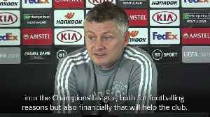 Solskjaer: Manchester United will suffer not being in Champions League [Video]