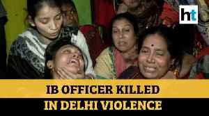 Ib Officer Killed In Delhi Violence [Video]