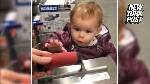 Tool-loving tot oohs and aahs over Lowe's shopping trip  [Video]