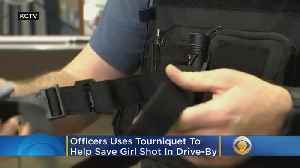 Officer Uses Tourniquet To Help Save Girl Shot In Drive-By: 'It's What I'm Sworn To Do' [Video]