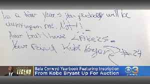 High School Yearbook With Kobe Bryant Inscription On Auction Block [Video]