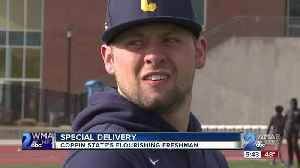 Coppin State freshman pitcher Timmy Ruffino born with an underdeveloped right hand [Video]