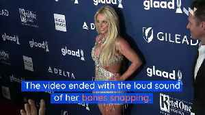 Britney Spears Shares Video of Her Foot Breaking [Video]