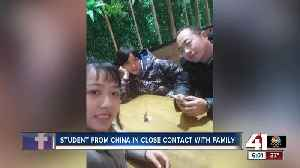 Coronavirus: Park University student from China in close contact with family [Video]