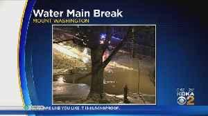Water Main Break In Mount Washington [Video]