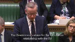 Gove: We will not trade away our sovereignty in Brexit negotiations [Video]