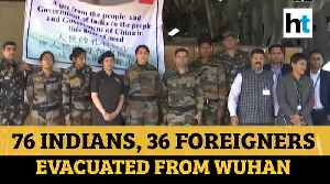 Coronavirus: IAF aircraft returns from Wuhan with 76 Indians, 36 foreigners [Video]