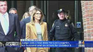 Judge Sets October Trial Date For Lori Loughlin, Husband [Video]