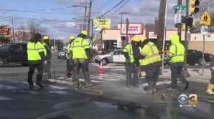 Water Main Break Shuts Down Portion Of Rhawn Street In Fox Chase [Video]