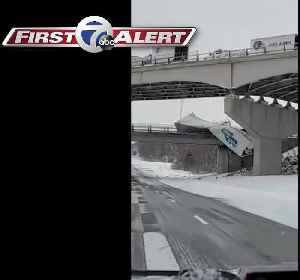 NYSP: tractor trailers crash on I-86 due to weather [Video]