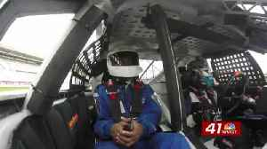 NASCAR's David Ragan holds ride along at Atlanta Motor Speedway [Video]