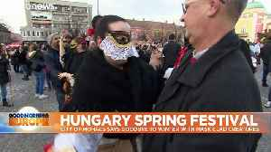 Hungarians say goodbye to winter with bizarre and scary costume festival [Video]