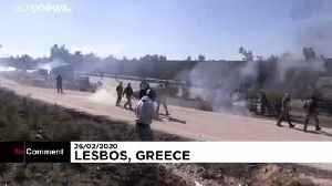 Demonstrators clash with police in protests over Greece migrant camps [Video]