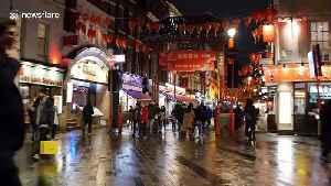 Anti-coronavirus face masks becoming common in London's Chinatown [Video]
