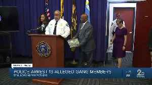 Police arrest 13 alleged gang members, search continues for seven others [Video]