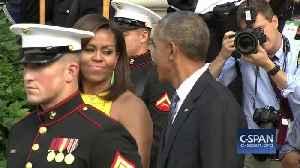 Michelle Obama picking Barack Obama's nose in public [Video]