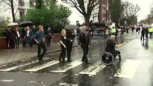 UK's Prince Harry and Bon Jovi recreate Abbey Road Beatles cover [Video]