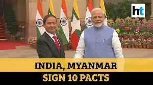 PM Modi holds talks with Myanmar President; India, Myanmar sign 10 pacts [Video]