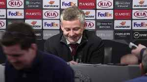 Solskjaer praises new signings after easing into Europa League final 16 [Video]