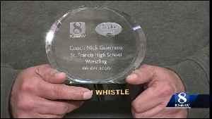 Saint Francis wrestling coach Nick Guerrero wins Golden Whistle Award [Video]