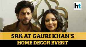 Watch: Shah Rukh Khan attends wife Gauri's home decor event in Mumbai [Video]