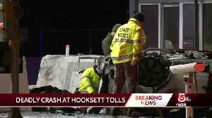 Driver dies after slamming into toll booth [Video]