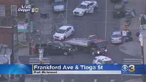 Traffic Detoured After Vehicle Flips Over In Port Richmond Section [Video]