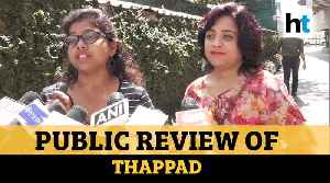Public review of Taapsee Pannu starrer Thappad [Video]