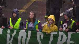 Greta marches with school climate strikers in Bristol