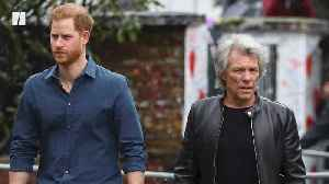 Prince Harry Jams With Jon Bon Jovi [Video]