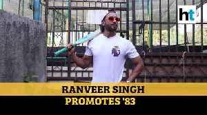 Watch: Ranveer Singh poses with bat, promotes upcoming movie '83 [Video]